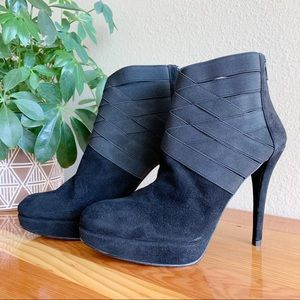 Stuart Weitzman Black Stiletto Bandage Booties